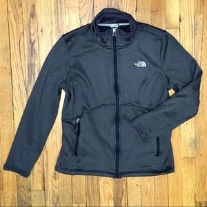 North Face Smooth Grey Full Zip Fleece Jacket  XL